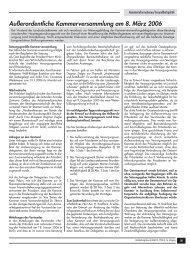 Außerordentliche Kammerversammlung am 8. März 2006 (PDF, 226