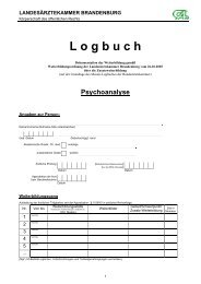 Psychoanalyse - Landesärztekammer Brandenburg