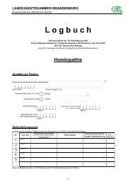Homöopathie - Landesärztekammer Brandenburg