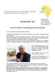 Mali-Rundbrief 01/2012