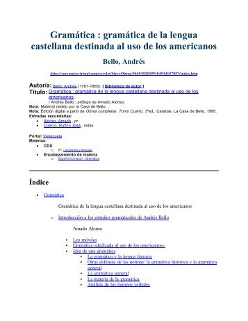Gramática de Andrés Bello