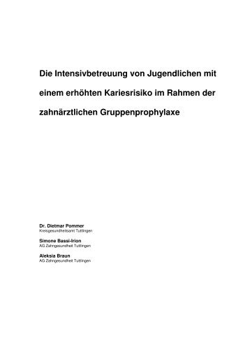 Bericht - Landesarbeitsgemeinschaft für Zahngesundheit Baden ...