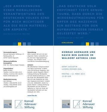 Zum Programm - Stiftung Bundeskanzler-Adenauer-Haus