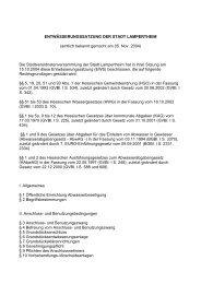 ENTWÄSSERUNGSSATZUNG DER STADT LAMPERTHEIM ...