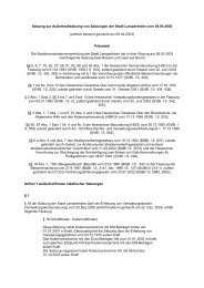 0-5 Außerkraftsetzung von Satzungen - Stadt Lampertheim