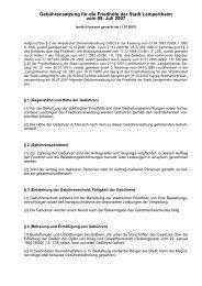 Gebührensatzung für die Friedhöfe der Stadt Lampertheim vom 09 ...