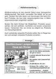 Abfallvermeidung :. .:Anzeige - Stadt Lampertheim