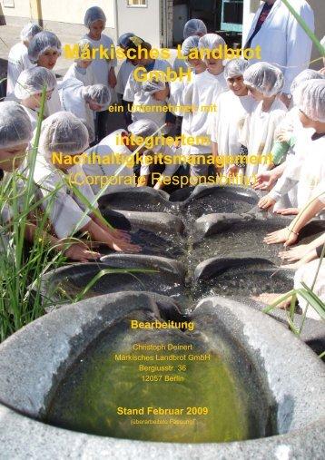 CSR-Bericht 2009 - Märkisches Landbrot