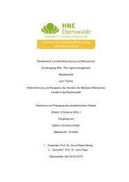 l Fachbereich Landschaftsnutzung und Naturschutz Studiengang ...