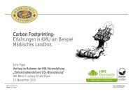Carbon Footprinting - Märkisches Landbrot