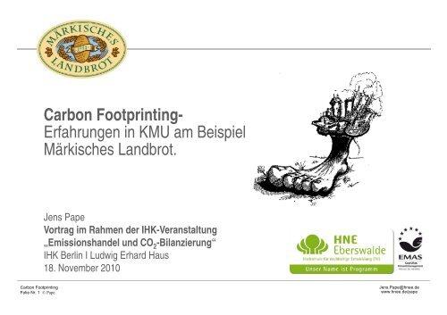 Carbon Footprinting - Märkisches Landbrot