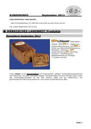 Kundeninfo September 2012 - Märkisches Landbrot