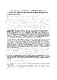Gesetzliche Grundlagen und Durchführung der Schulleiterwahl