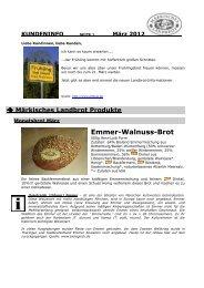 Kundeninfo März 2012 - Märkisches Landbrot