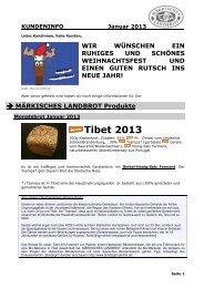 Kundeninfo Januar 2013 - Märkisches Landbrot
