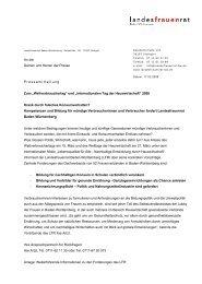 pressemitteilung als pdf downloaden - Landesfrauenrat Baden ...