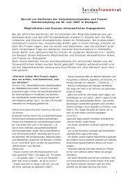 bericht zur veranstaltung als pdf downloaden - Landesfrauenrat ...