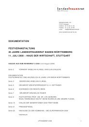 Dokumentation Festveranstaltung 40 Jahre LFR - 11.07.2009