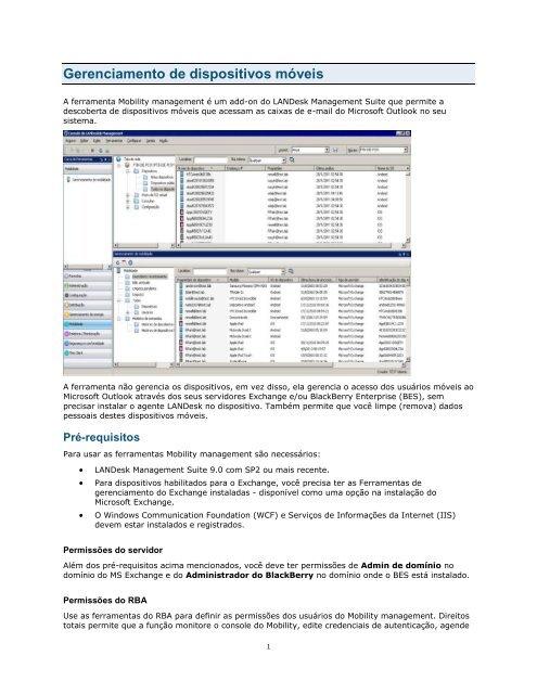 Gerenciamento de dispositivos móveis - LANDesk