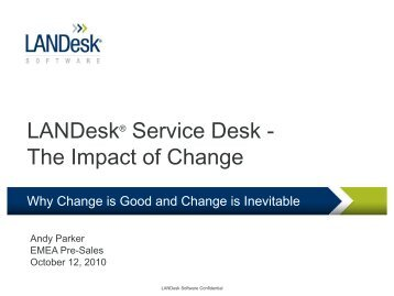 Change - LANDesk