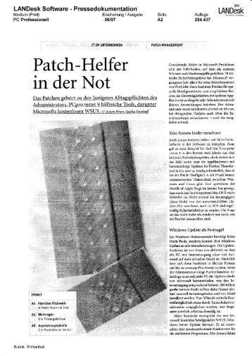 Patch-Helfer in der Not - LANDesk