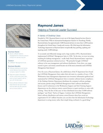 Download the Raymond James Financial story - LANDesk