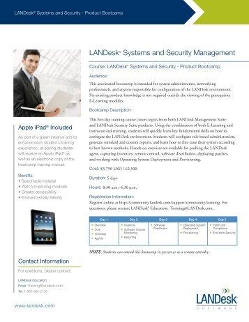 LDMS Bootcamp - LANDesk