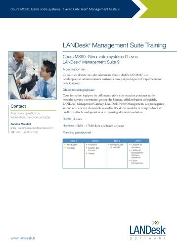 LANDesk® Management Suite Training