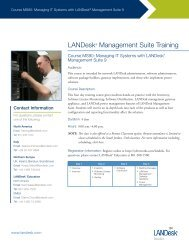 Managing IT Systems with LANDesk Management Suite 9.0