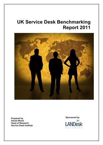 UK Service Desk Benchmarking Report 2011 - LANDesk