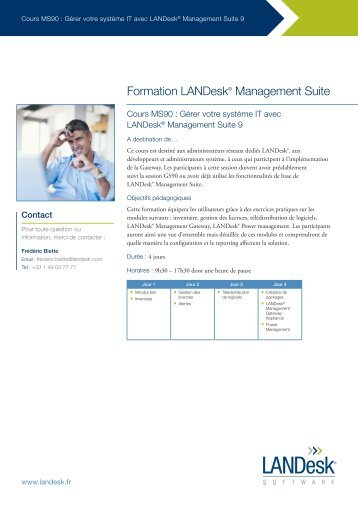 Cours MS90 - LANDesk