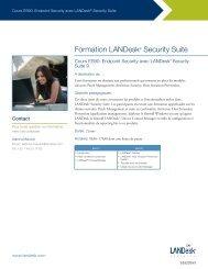 Formation LANDesk® Security Suite