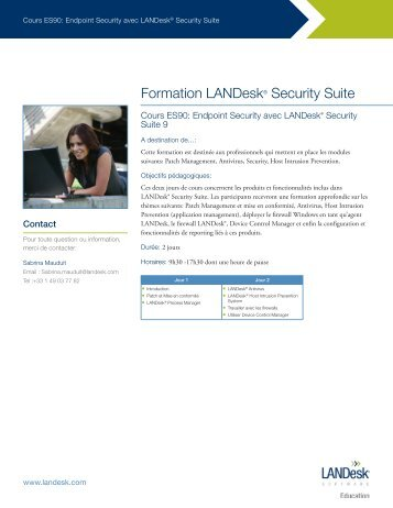 Formation LANDesk® Security Suite