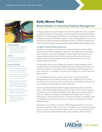 Kelly-Moore Paint - LANDesk