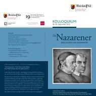 Flyer zum Kolloquium - Landesmuseum Mainz