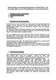 Dokumentation zum Kompositionsprozess - Landesmusikrat Hamburg