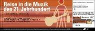Reise in die Musik des 21. Jahrhundert - Landesmusikrat Hamburg