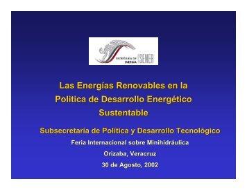 Las energías renovables en la política energética de México