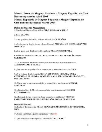 Ciro Barranca - Mezcales Tradicionales