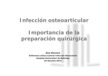 Infección osteoarticular Importancia de la preparación ... - Aymon