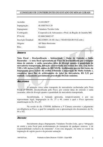 Microsoft Word - 14441003\252.doc - Secretaria de Estado de ...