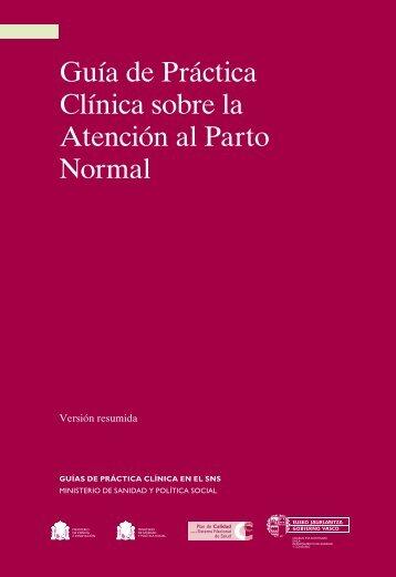 Guía de Práctica Clínica sobre la atención al parto normal