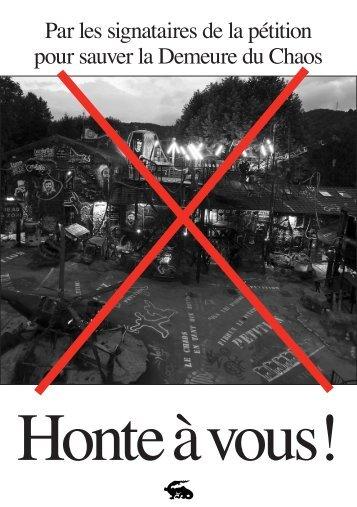 Honte à vous! - thierry ehrmann - blog - ehrmann . org