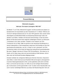 Einführung in die Edition - Stiftung Bundeskanzler-Adenauer-Haus