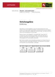 Schulwegpläne - Curriculum Mobilität