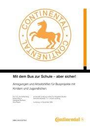 Mit dem Bus zur Schule – aber sicher! - Continental