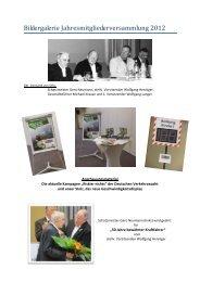 Bildergalerie Jahresmitgliederversammlung 2012
