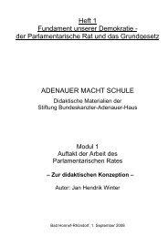 Zur didaktischen Konzeption - Stiftung Bundeskanzler-Adenauer-Haus