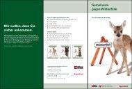 Das Info-Faltblatt zur Aktion gegen Wildunfälle