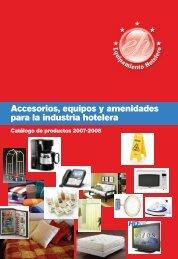 Accesorios, equipos y amenidades para la industria hotelera